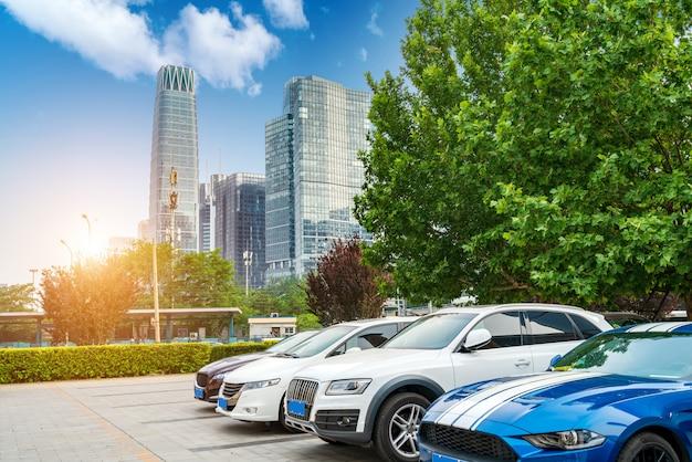 北京cbd駐車場 Premium写真