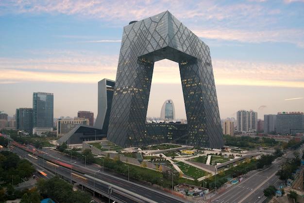 Пекин пекин, известное здание, китай cctv (cctv) Premium Фотографии