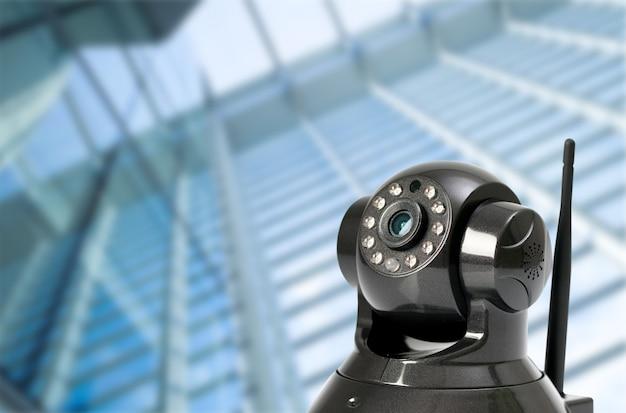 Cctv security camera in locations Premium Photo