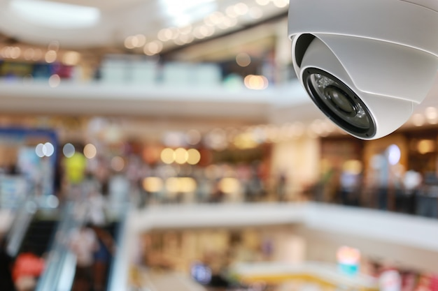 Cctv tool in shopping mall equipment for security systems. Premium Photo