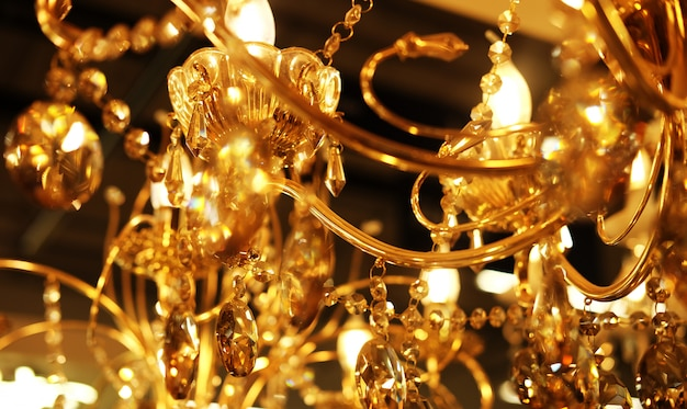 Ceiling lamps, chandeliers Premium Photo