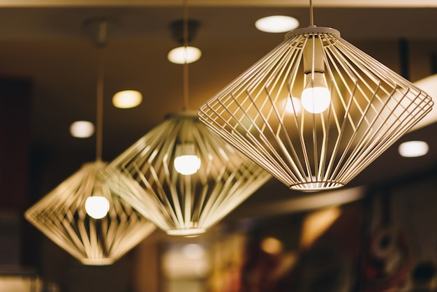 Ceiling lights are beautiful and attractive Premium Photo