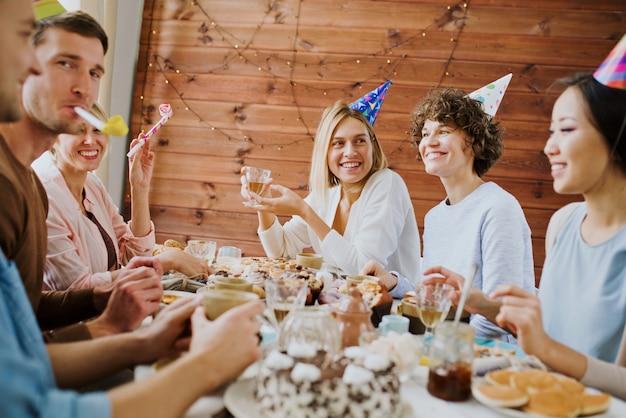 Celebrating birthday Free Photo