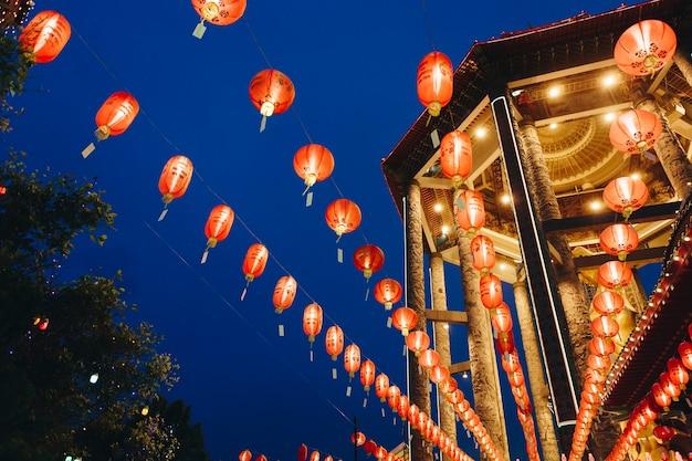Celebration of chinese lantern festival Free Photo