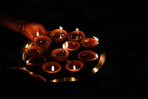 Celebration of indian festival diwali Premium Photo