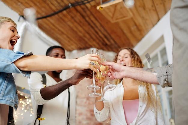 Celebratory toast Free Photo