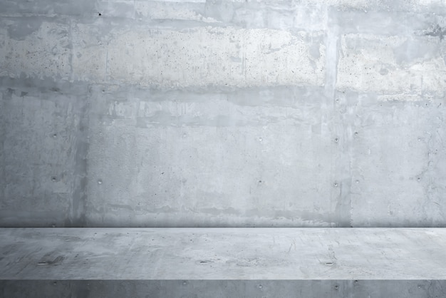 Cement floor and wall background Premium Photo