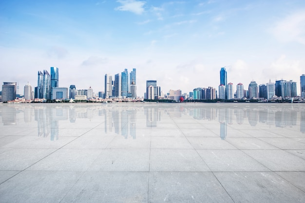 Cement footpath skyline space building Free Photo