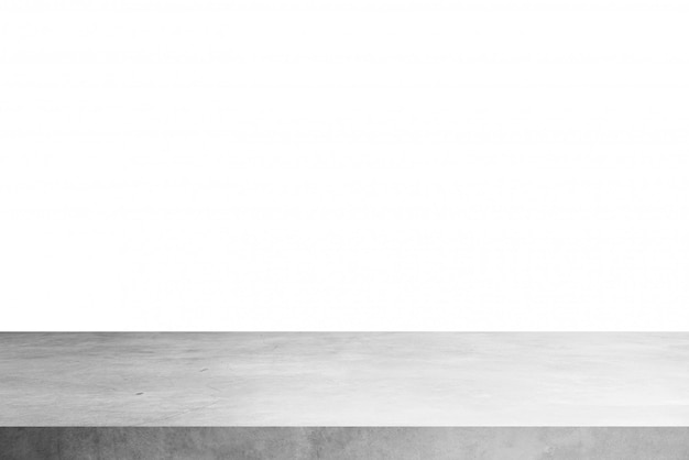 Cement shelf table isolated on a white backgrounds, for display products Premium Photo