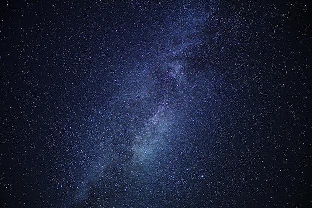 Center of the milky way galaxy on night sky. Premium Photo