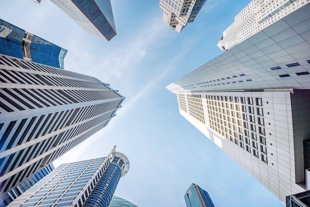 シンガポールの中央ビジネス地区。 無料写真