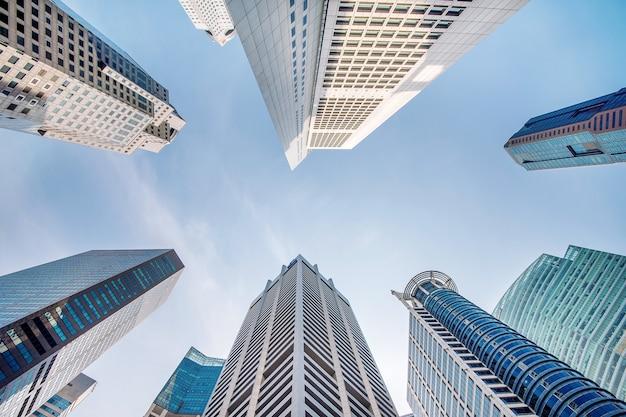 Центральный деловой район в сингапуре. Бесплатные Фотографии
