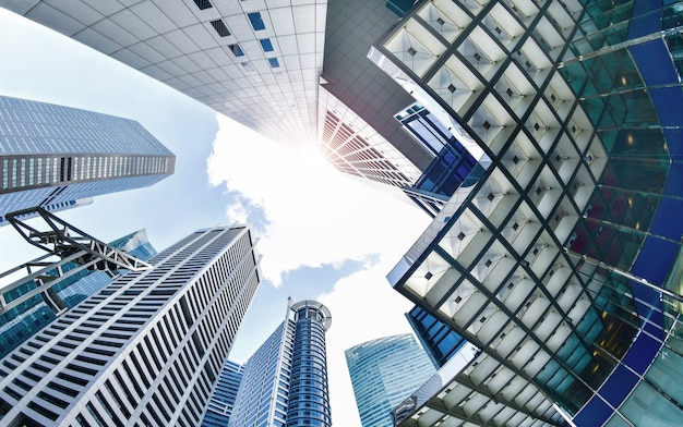 Central business district in singapore. Premium Photo