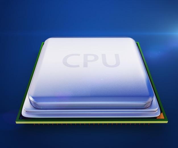 Central processor unit on mainboard Premium Photo