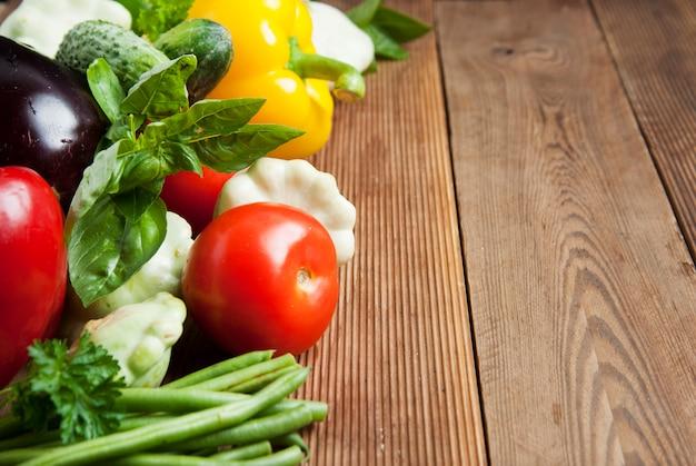 Cerals, grains, zzuchini, tomatoes, cucumbers, beans. Premium Photo