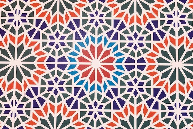 Fondo in ceramica con forme geometriche Foto Gratuite