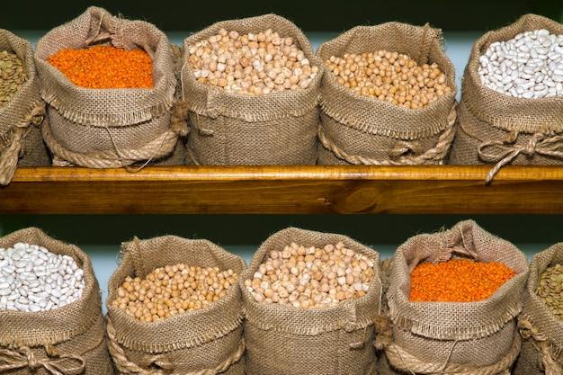 Cereals in bags Premium Photo