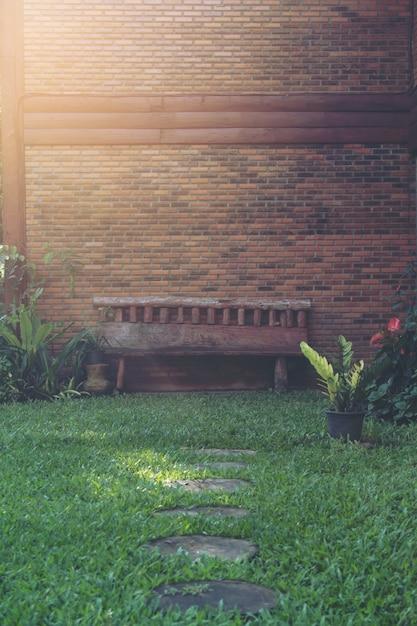 Chair in garden Free Photo
