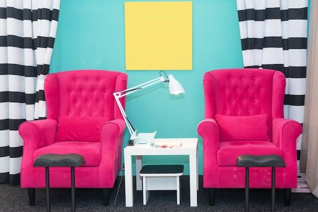 Prime Chairs In A Pedicure Beauty Salon Interior Of Empty Modern Gmtry Best Dining Table And Chair Ideas Images Gmtryco