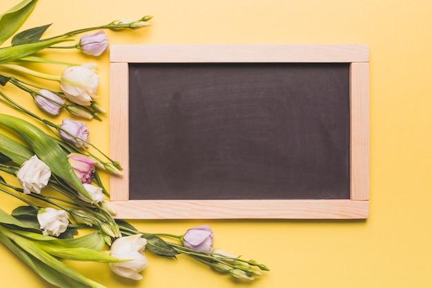 Chalkboard near roses Free Photo