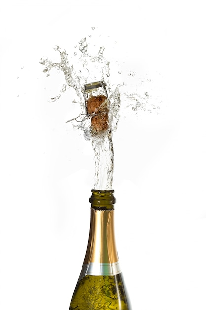 Champagne cork popping Photo | Premium Download