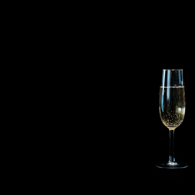 Champagne glass on table Free Photo