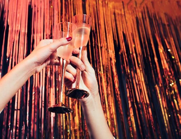 Champagne glasses Free Photo