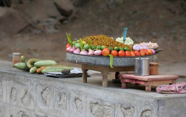 Chana masala Premium Photo