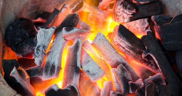 Charcoal burning Premium Photo