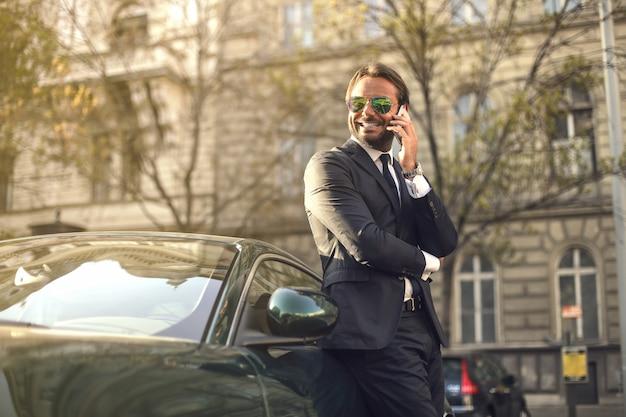 Charming rich businessman Premium Photo