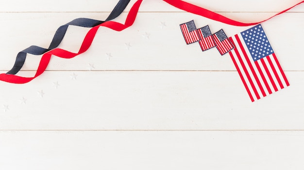 Checkboxes of america con nastri Foto Gratuite