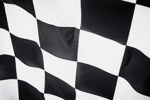 Checkered flag, end race background, formula one competition. Premium Photo