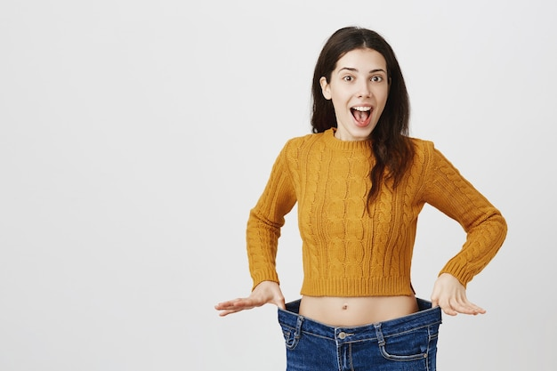 명랑 소녀 체중 감량과 기쁨, 다이어트 효과 무료 사진