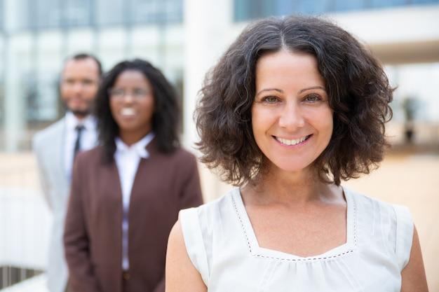 Cheerful multiracial business team Free Photo