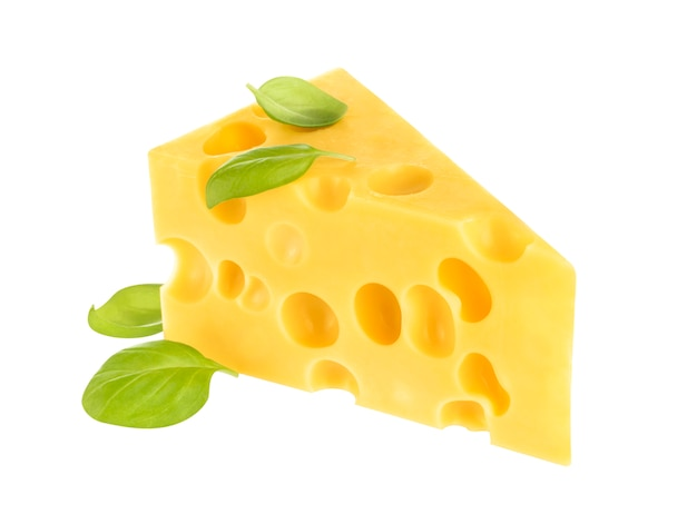 Cheese isolated on white Premium Photo