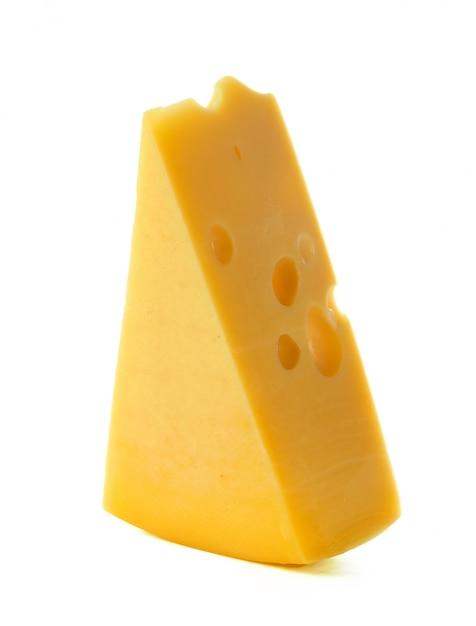 Cheese isolated on white Premium Photo
