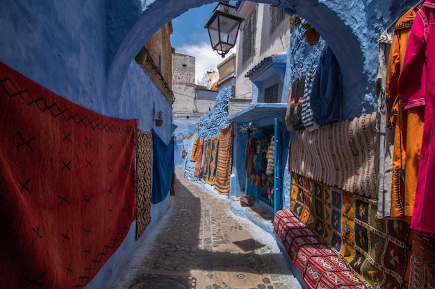 Chefchaouen city buildings Premium Photo