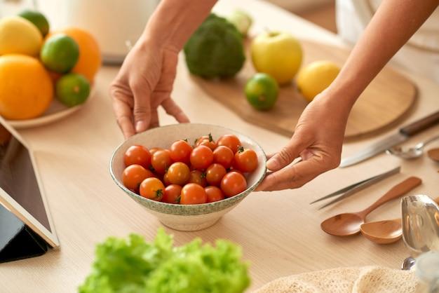 Cherry tomatos Free Photo