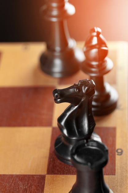 Chess on board business concept Premium Photo