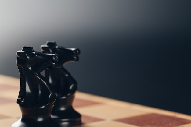 Chess on board business concept Premium Photo