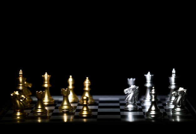 Chess board game for competition and strategy Premium Photo