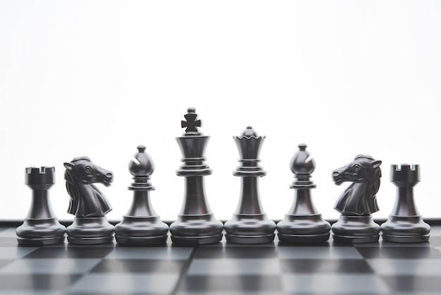 Chess board game concept of business ideas and competition and stratagy plan success meaning Premium Photo