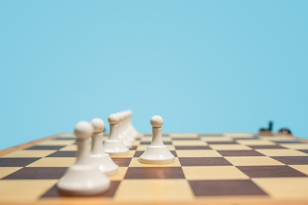 The chess board and game concept of business ideas and competition. Free Photo