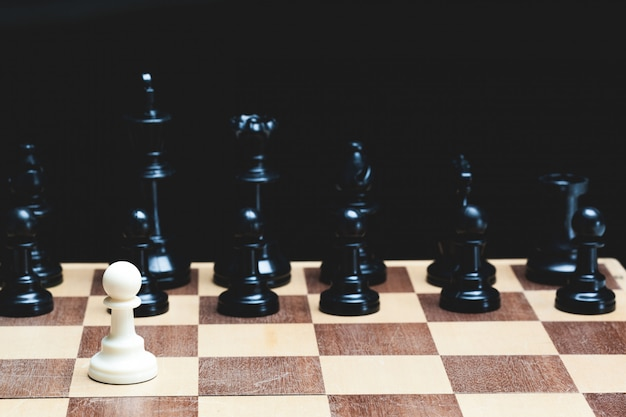Chess board with figures Premium Photo