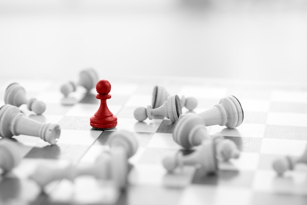 Chess business concept, leader & success Premium Photo