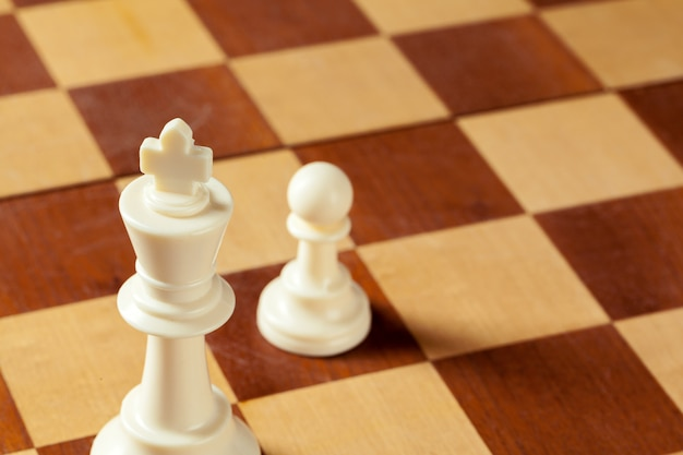Chess business concept, leader and success. Premium Photo