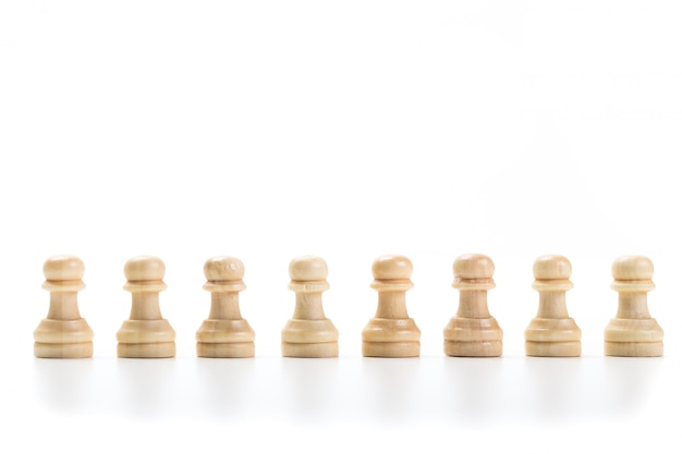 Chess game or chess pieces Premium Photo