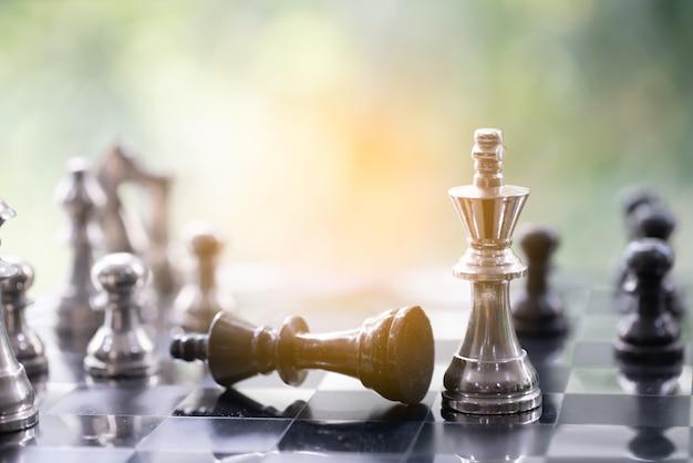Chess piece on green Premium Photo