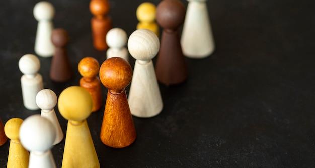 コピースペースとチェスの木製作品 無料写真