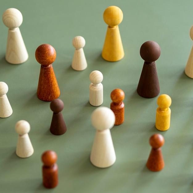 チェスの木製ピース 無料写真